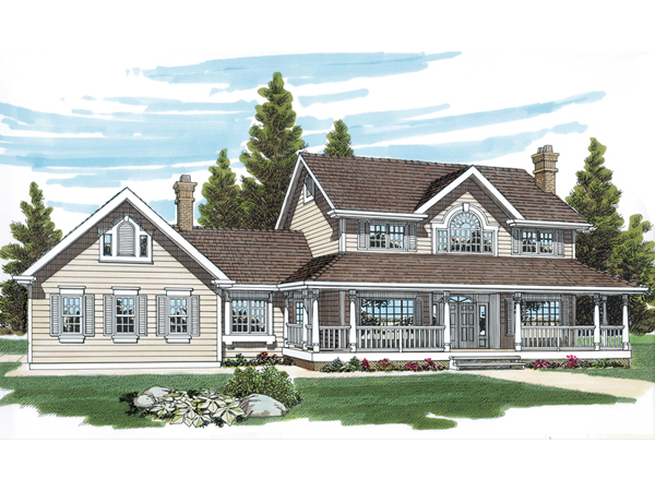 Wrexham Country Farmhouse Plan 062D-0015