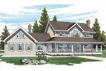 Large Traditional Farmhouse Style Home With Covered Front Porch