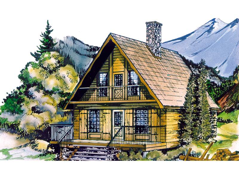 Shadow mountain cottage home plan 062d 0031 house plans for Mountain cottage house plans