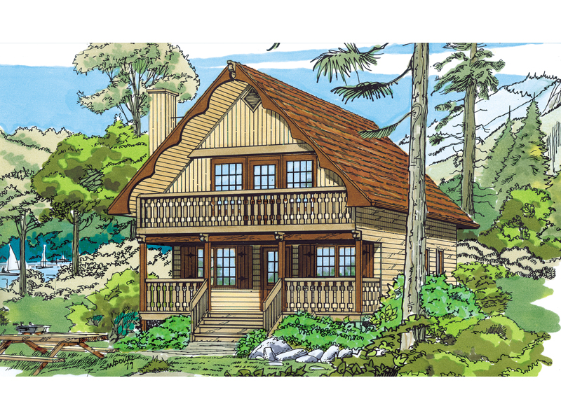 Trumbell mountain cottage home plan 062d 0033 house for Cabin house plans with photos