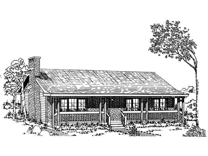 Rustic Acadian Design With Covered Front Porch