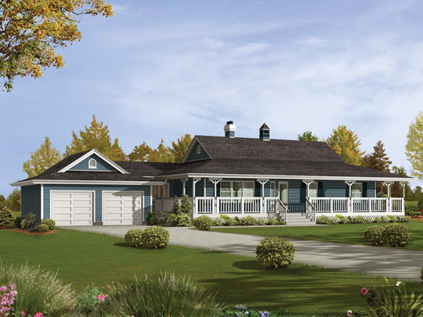 Ranch House Plans With Wrap Around Porch Furthermore Open Ranch Style