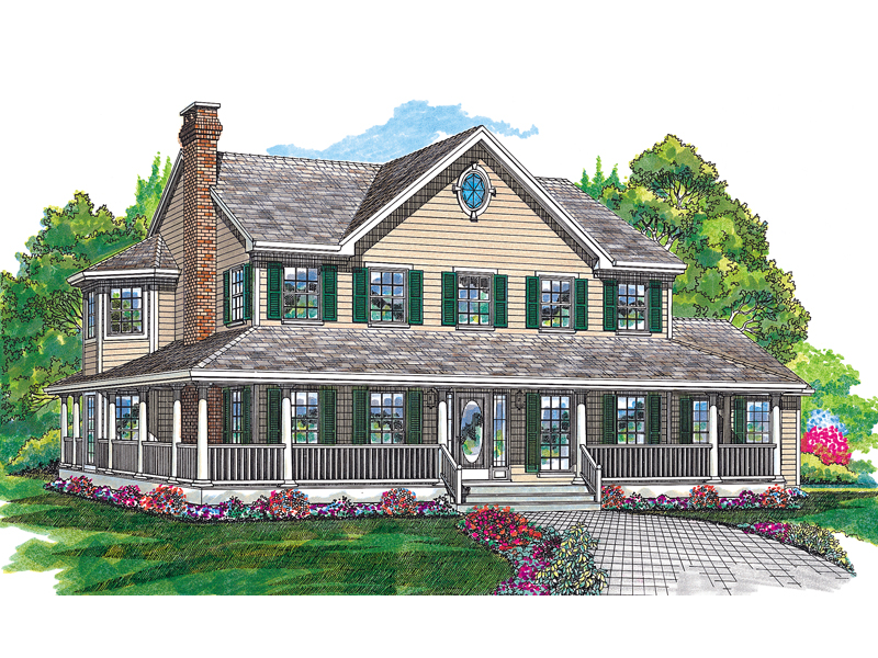 Cornfeld traditional farmhouse plan 062d 0042 house for Traditional farmhouse house plans