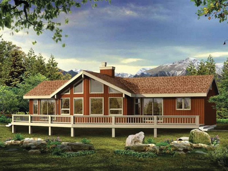 Meredith Mill Mountain Home Plan 062d 0047 House Plans
