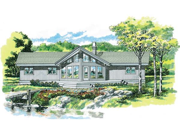 Selkirk Place Mountain Home Plan 062d 0053 House Plans
