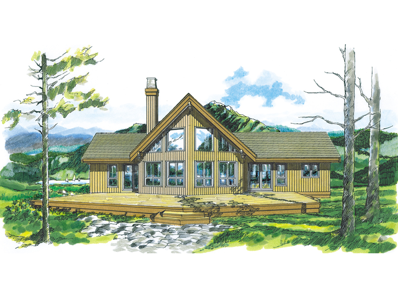 Enchanted Place A Frame Home Plan 062d 0054 House Plans