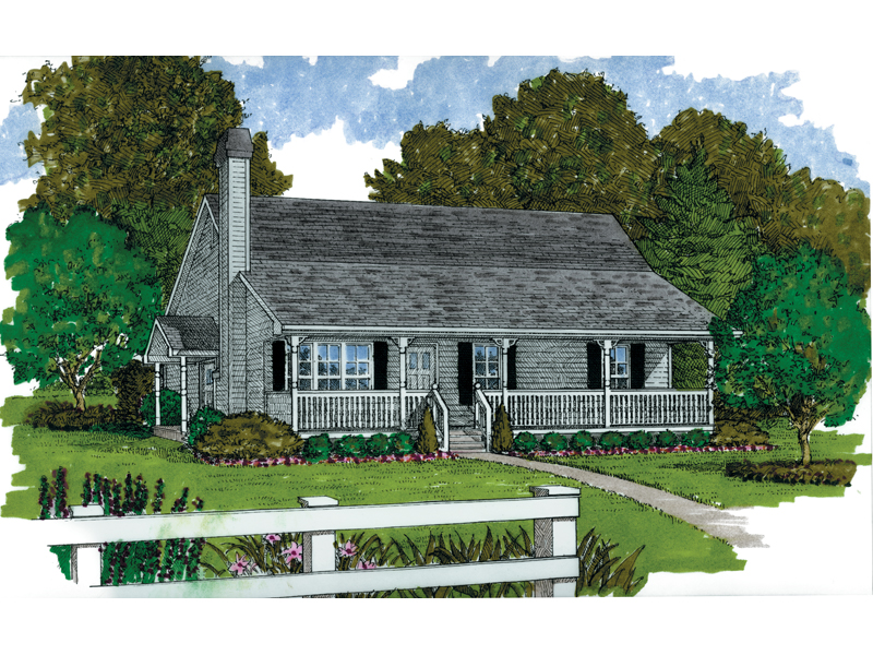 Porch Enhances Farmhouse Style Of This Home