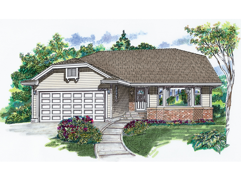 Ranch Style Home Has Simple Exterior Design