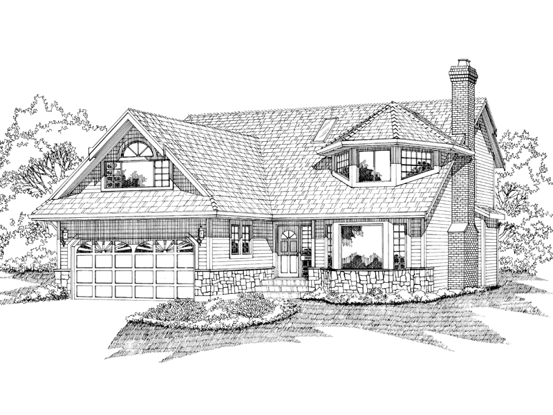 Craftsman House Plan Front of Home - 062D-0103 | House Plans and More