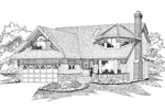 Arts and Crafts House Plan Front of Home - 062D-0103 | House Plans and More