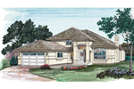 Stucco Home Is The Perfect Sunbelt Or Floridian Style