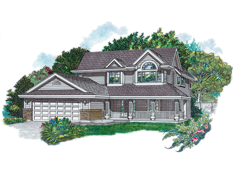 Country Style House Enjoys A Wrap-Around Porch