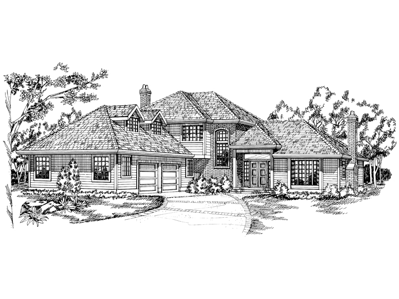 Luxury House Plan Front of Home - 062D-0127 | House Plans and More