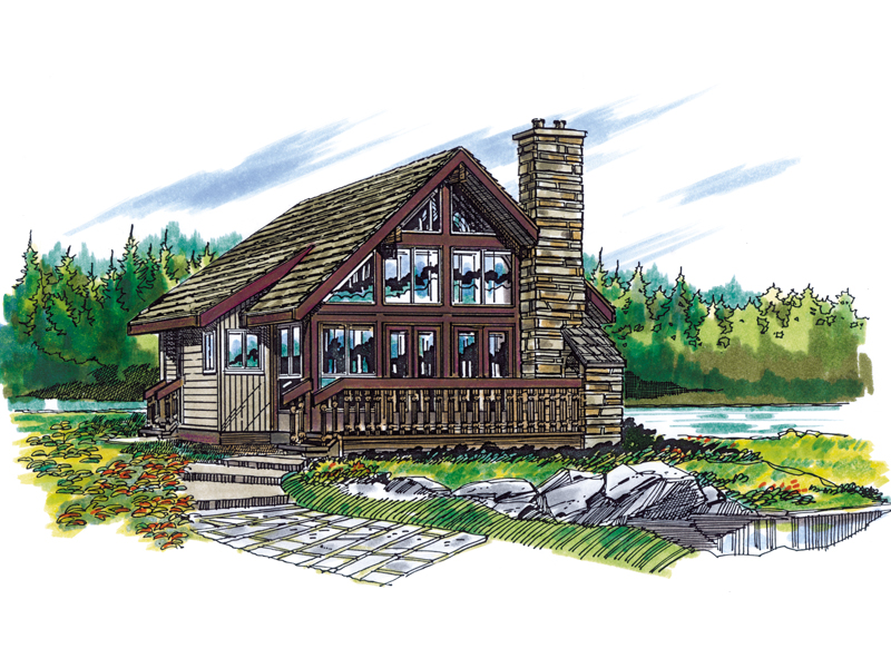 Ranch House Plan Front of Home - 062D-0146 | House Plans and More