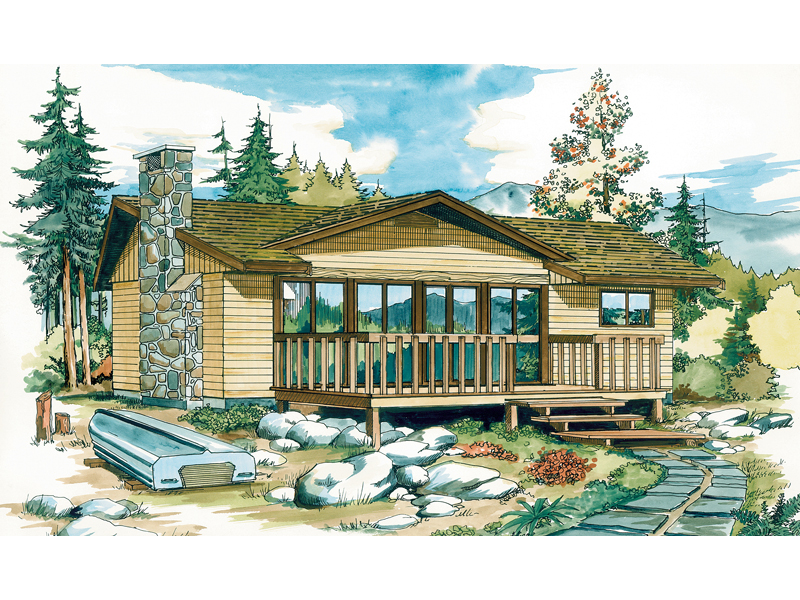 Overbrook Rustic Vacation Home Plan 062d 0150 House