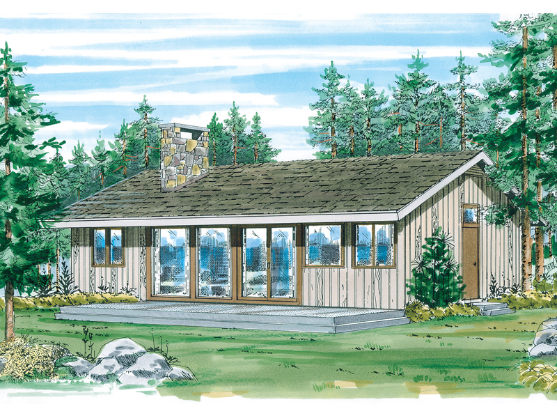 Ranch House Plan Front of Home - 062D-0152 | House Plans and More