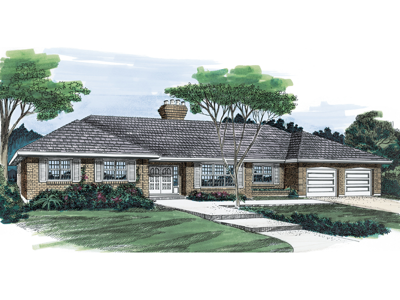 Spacious Ranch Home Emits An Immense Amount Of Curb Appeal