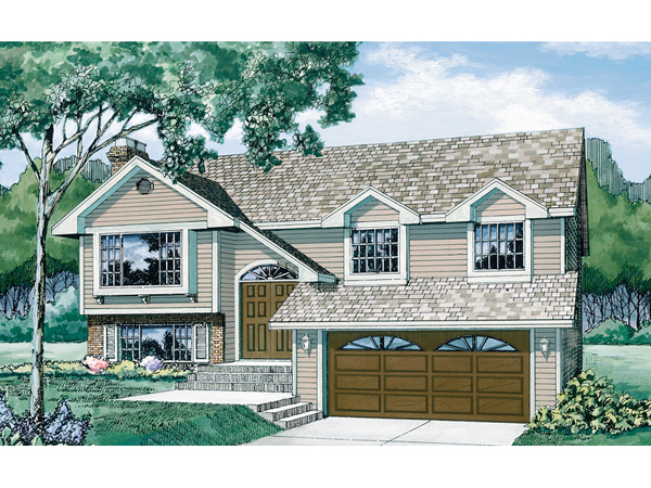 Brookview split level home plan 062d 0195 house plans Split level house plans