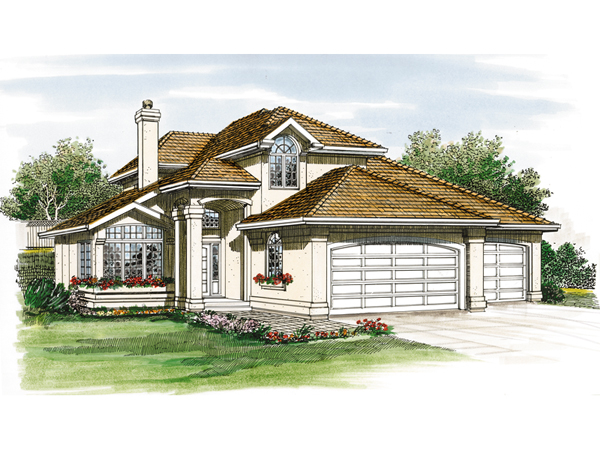 Miranda Canyon Southwestern Home Plan 062d 0243 House