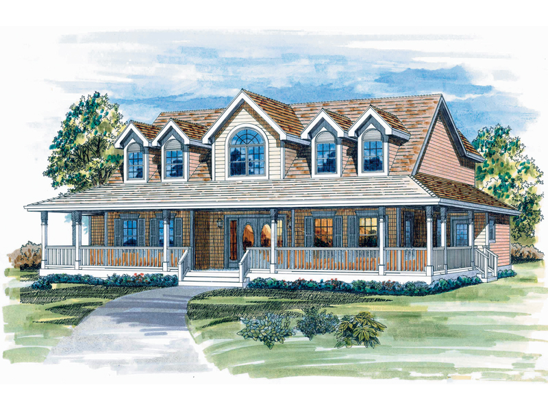 Luxury house plans porches house design plans for Luxury farmhouse plans