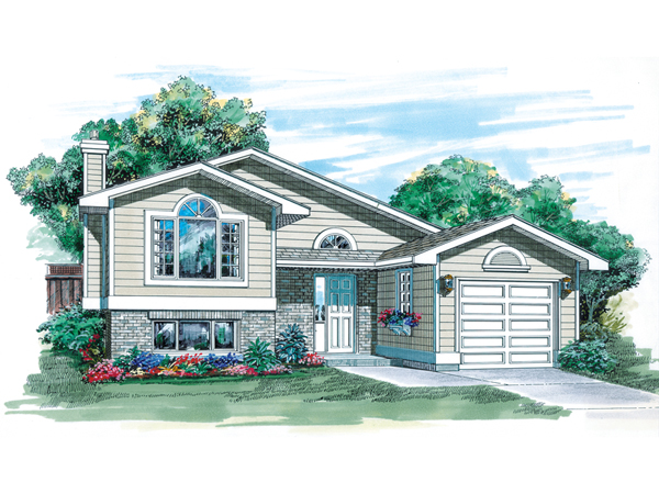 Ryancrest Split Level Home Plan 062d 0254 House Plans