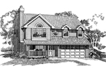 Twin Dormers Add Country Character And Charm To This Two-Story