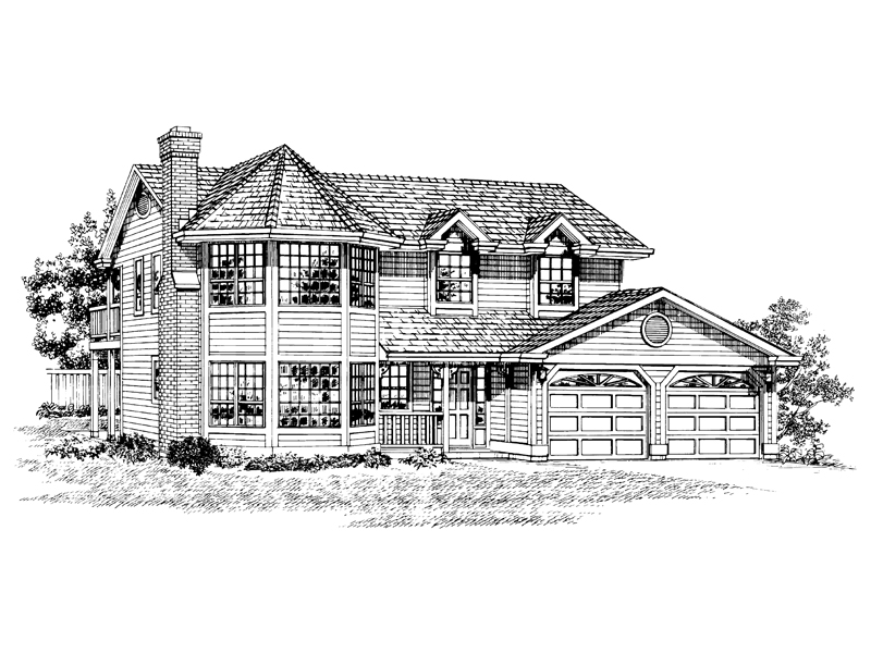 Contemporary House Plan Front of Home - 062D-0267 | House Plans and More