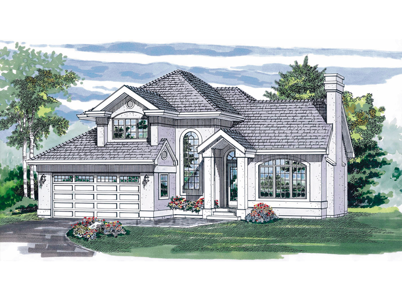 Contemporary House Plan Front of Home - 062D-0288 | House Plans and More
