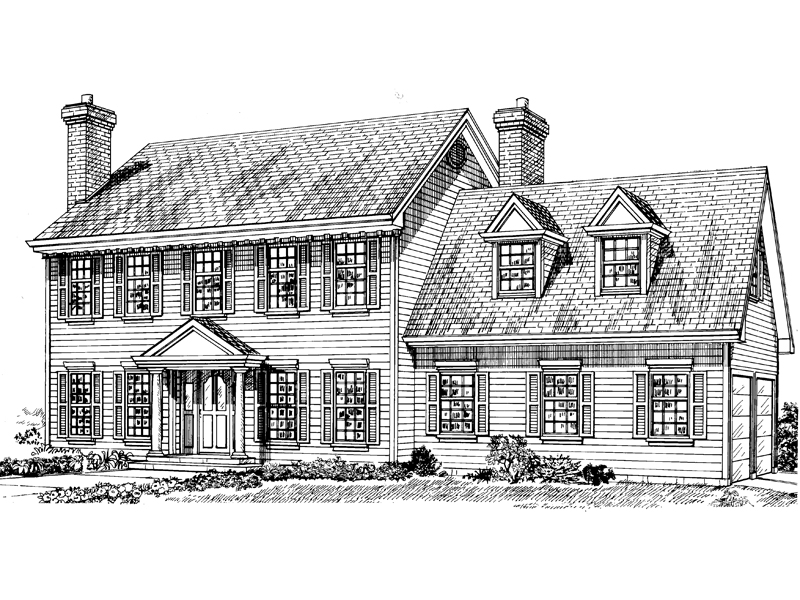 Steffan early american home plan 062d 0306 house plans for Early american house plans