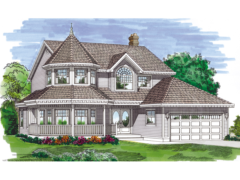 Allegany way victorian home plan 062d 0307 house plans for Victorian house plans with turrets