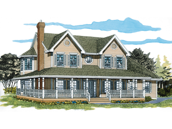 Painted creek country farmhouse plan 062d 0309 house for Country and farmhouse home plans