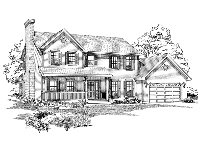 Spacious Two-Story Home Has Casual, Country Feel