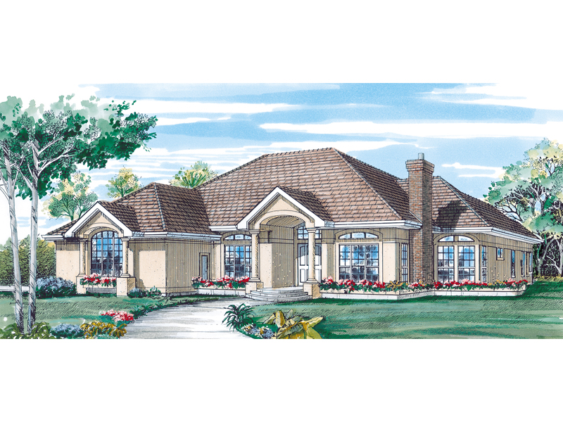 Blenheim Bay Sunbelt Ranch Home Plan 062d 0323 House