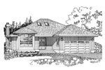 Simple Ranch Style Home With Low-Pitched Roof