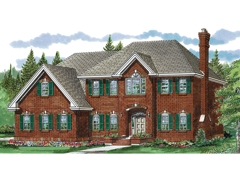 Georgian House Plan Front of Home - 062D-0351 | House Plans and More