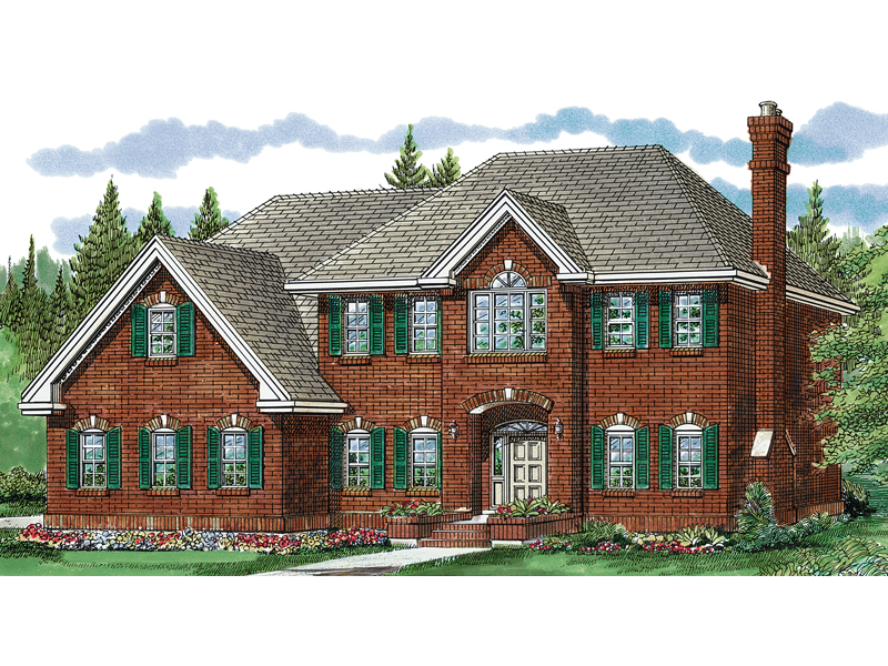 Colonial House Plan Front of Home - 062D-0352 | House Plans and More