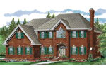 Georgian House Plan Front of Home - 062D-0352 | House Plans and More