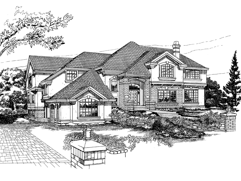 Contemporary House Plan Front of Home - 062D-0353 | House Plans and More