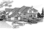 Traditional House Plan Front of Home - 062D-0353 | House Plans and More