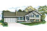 Ranch House Plan Front of Home - 062D-0354 | House Plans and More