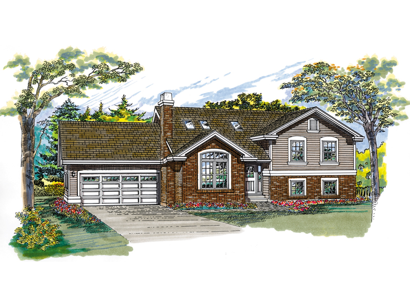 Ranch House Plan Front of Home - 062D-0355 | House Plans and More