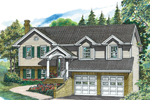 Ranch House Plan Front of Home - 062D-0356 | House Plans and More