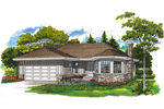 Ranch House Plan Front of Home - 062D-0358 | House Plans and More