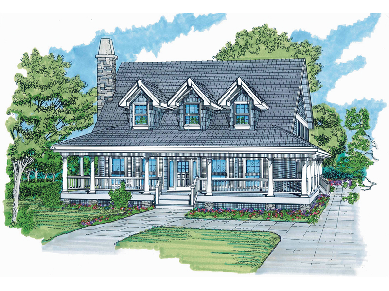 Country House Plan Front of Home - 062D-0359 | House Plans and More