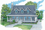 Craftsman House Plan Front of Home - 062D-0359 | House Plans and More