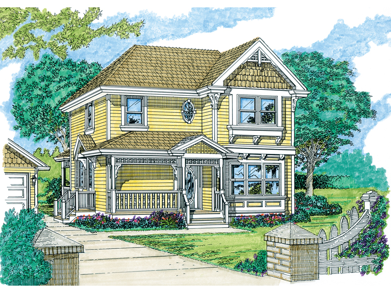 Shingle House Plan Front of Home - 062D-0360 | House Plans and More