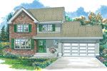 Traditional House Plan Front of Home - 062D-0361 | House Plans and More