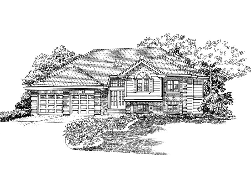 Ranch House Plan Front of Home - 062D-0362 | House Plans and More