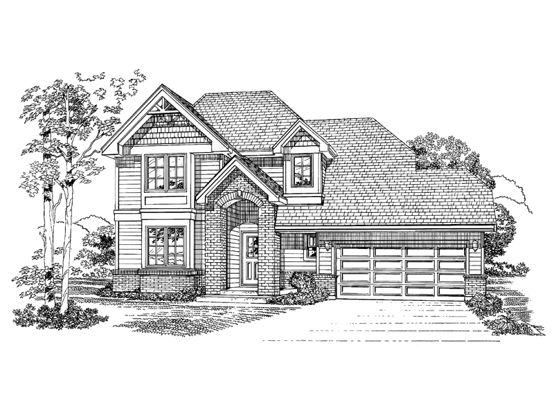 Traditional House Plan Front of Home - 062D-0363 | House Plans and More