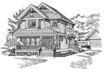 Farmhouse Plan Front of Home - 062D-0364 | House Plans and More